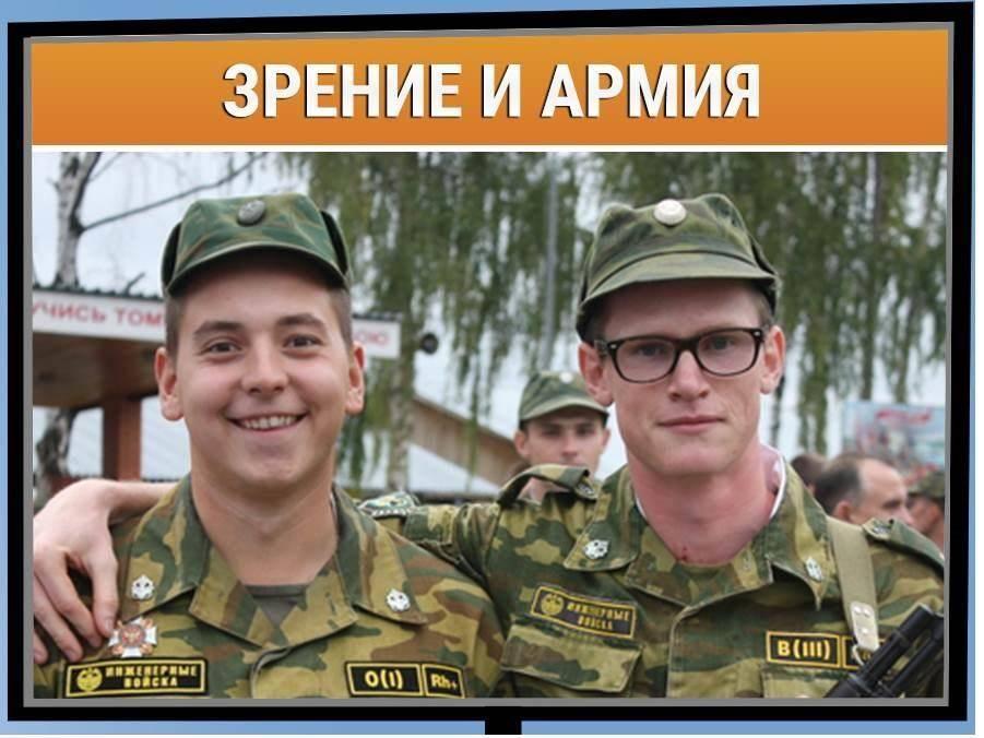 Перечень проблем со зрением для освобождения от армии