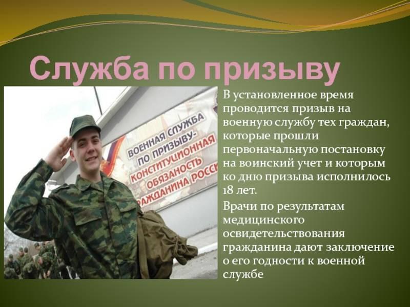 Порядок призыва на военную службу