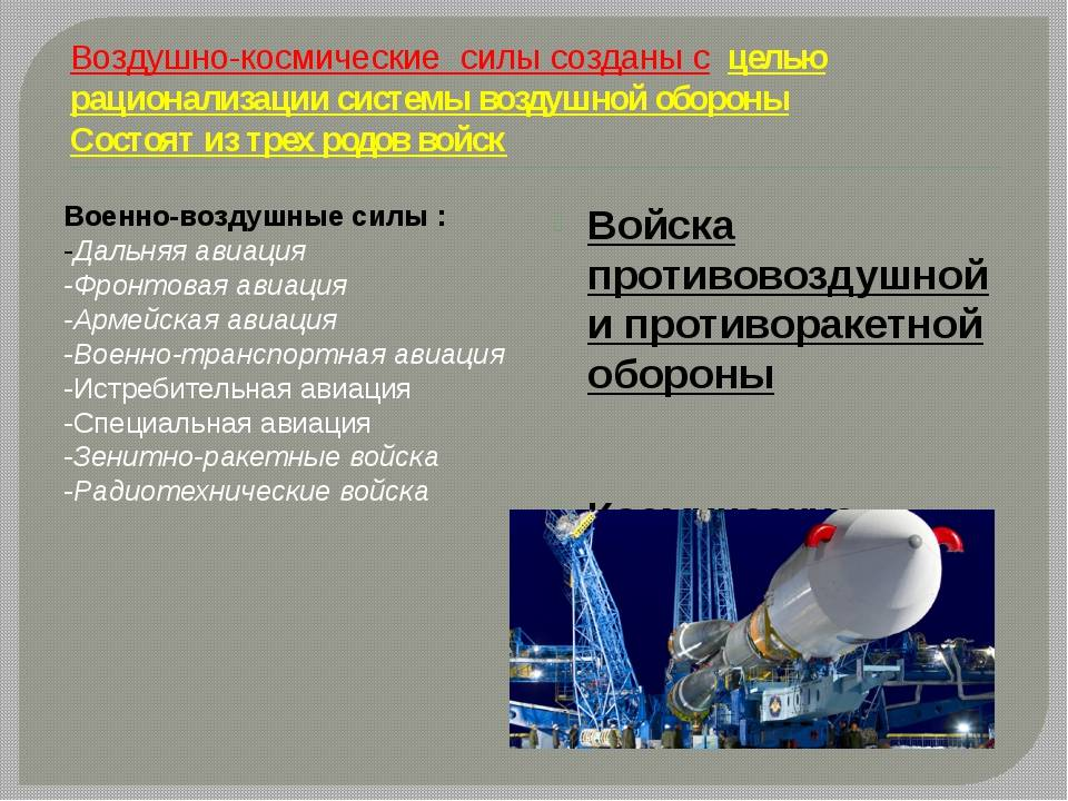 Состав ВКС России и условия службы в формировании