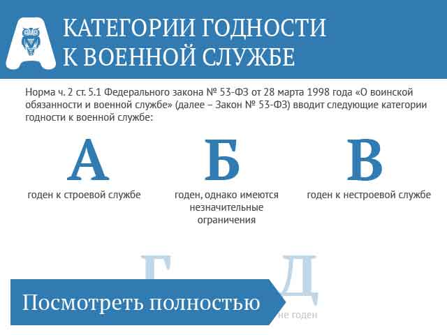 В чем заключаются отличия категорий годности