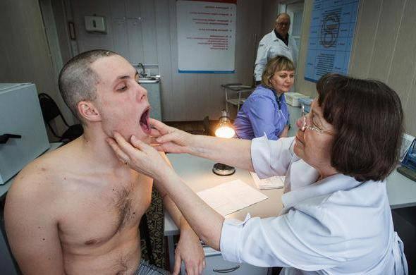 Медицинское освидетельствование в военкомате