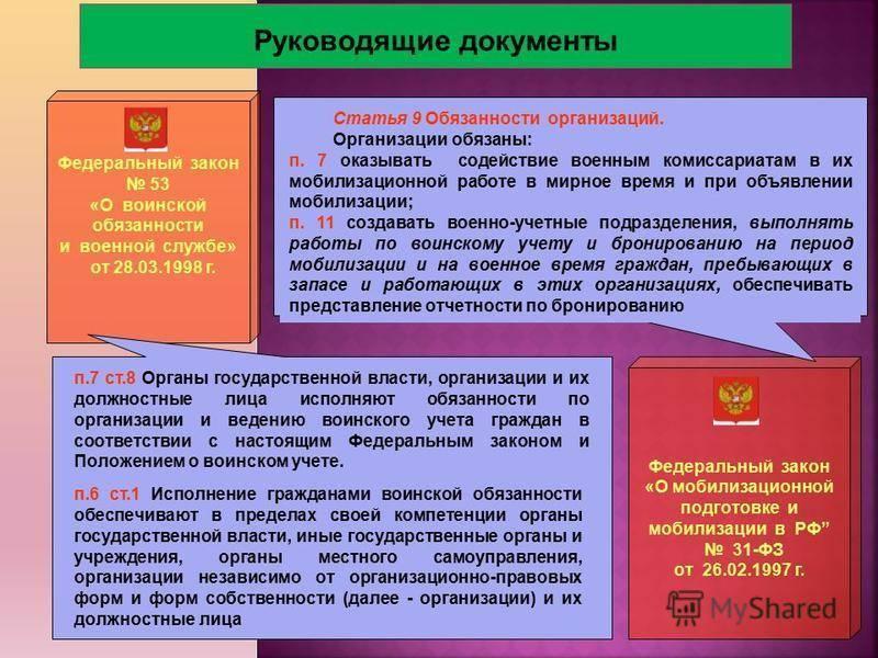 Функциональные обязанности работников, осуществляющих воинский учет