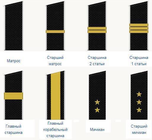 Офицерская иерархия в россии