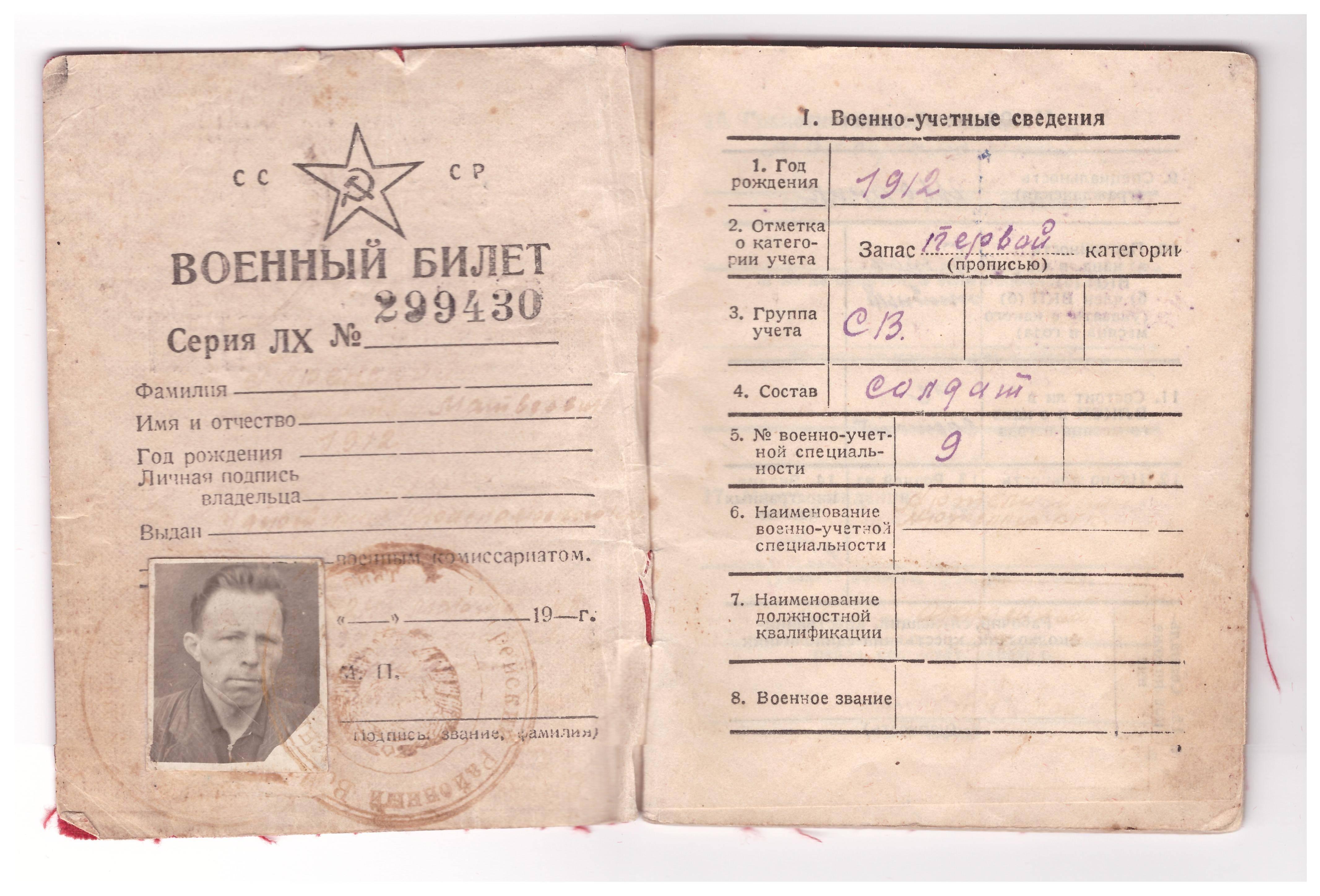Получение военного билета после 30 лет