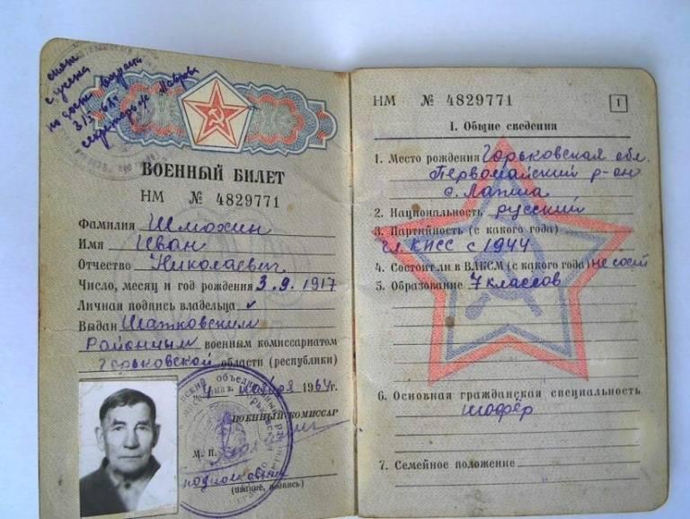 Процедура получения военного билета после 27 лет