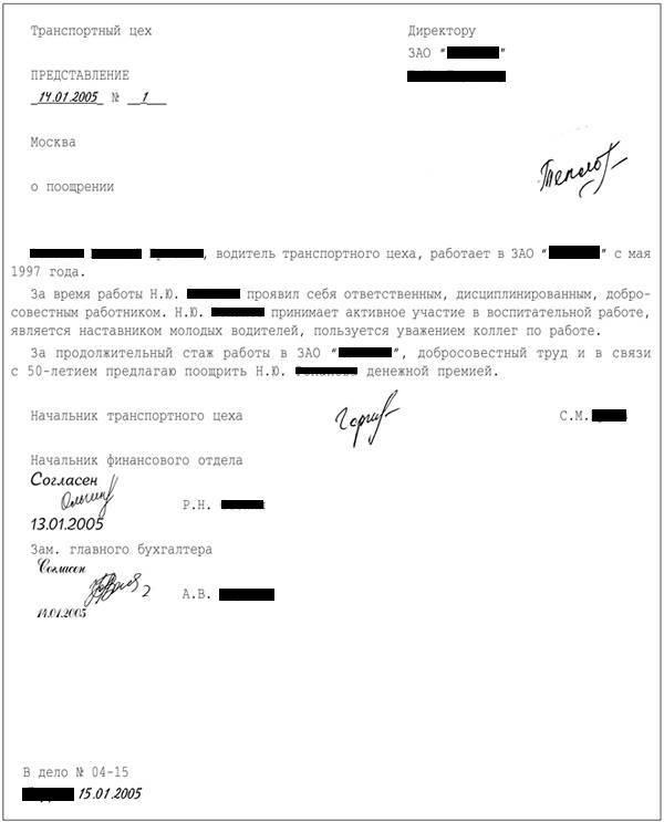 Образец рапорта на поощрение военнослужащего