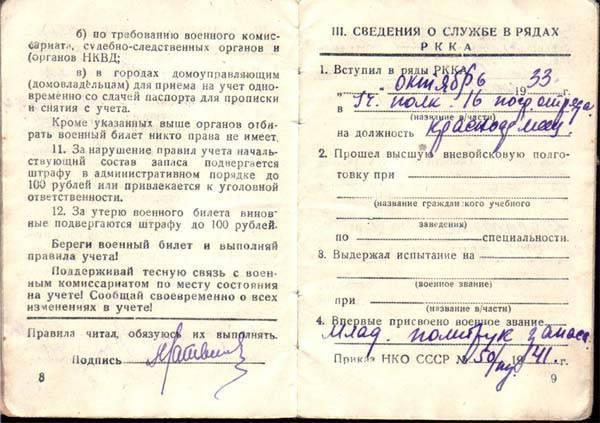 Расшифровка статьи 20 (а) и 20 (б) в военном билете