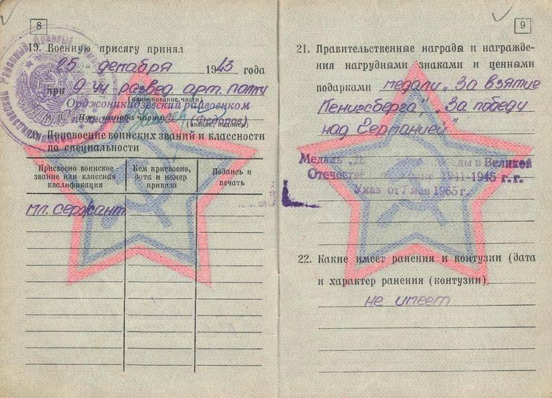 Статья 68 в военном билете