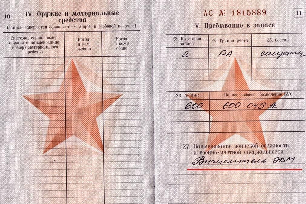 Что значит категория «В» в военном билете