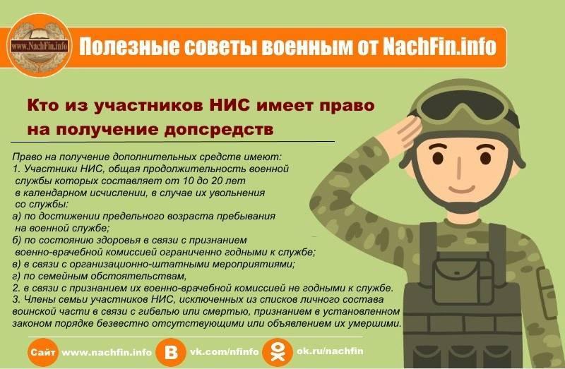 Компенсация за вещевое имущество военнослужащему