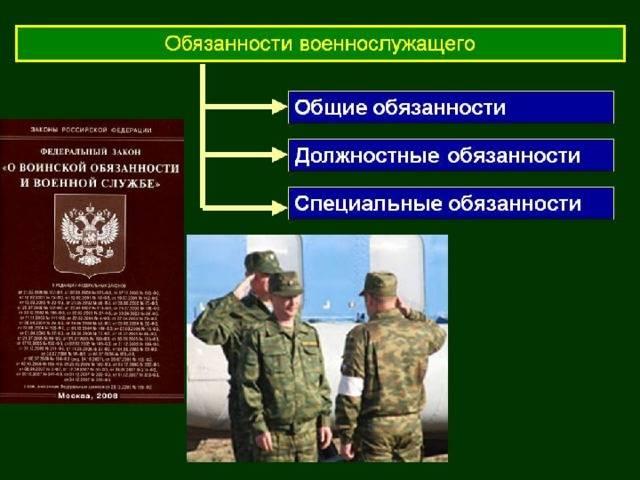 Ответственность, права и обязанности военнослужащего