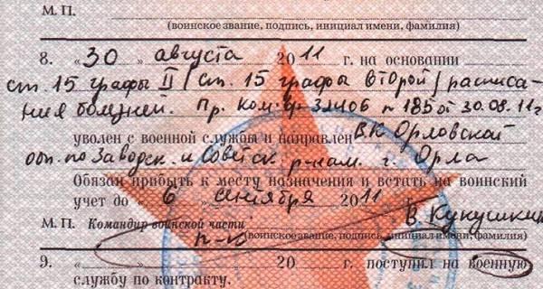 Как расшифровать статью в военном билете